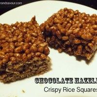 CHOCOLATE HAZELNUT CRISPY RICE SQUARES- Vegan, Gluten-Free & Refined Sugar-Free