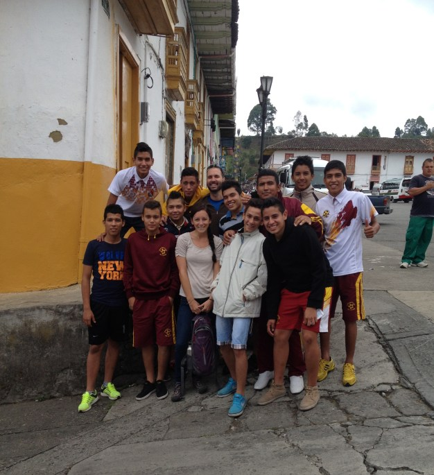 local kids who really wanted a photo with some gringos
