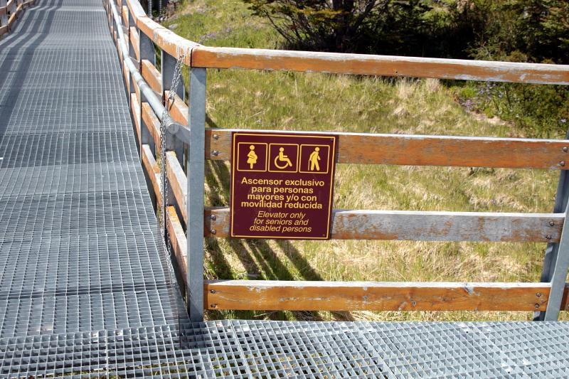 Siga na Viagem - Glaciar Perito Moreno - Placas de sinalização