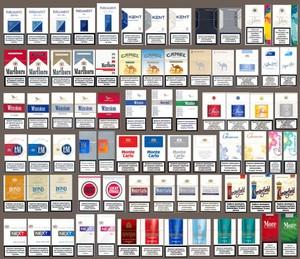 Typer af tobaksprodukter på markedet