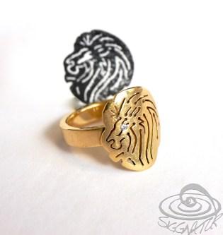 Schmuckanfertigung Ring Düsseldorf Löwenkopf Gold