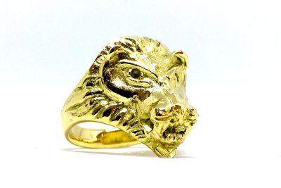 Löwenkopf Ring Gold Schmuckanfertigung Goldschmied Düsseldorf