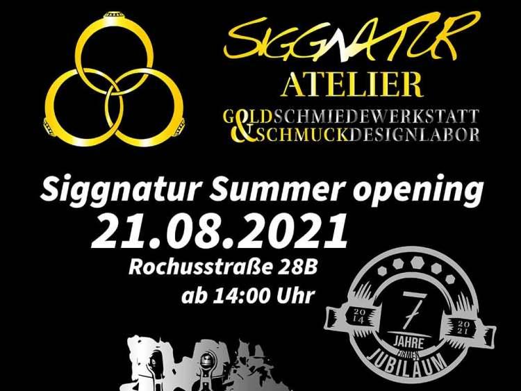Eröffnung Rochusstraße Siggnatur Goldschmied Schmuckdesign