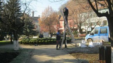 Photo of Pregătiri pentru iluminatul festiv, la Sighişoara