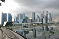 Reflections of the Marina Bay Financial District