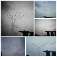 090815: Fighter jets display as part of Singapore's National Day Parade