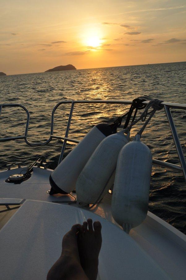 The Sunset at Gaya Island