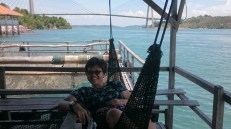 Barelang Seafood - Can't resist not sitting on the hammock