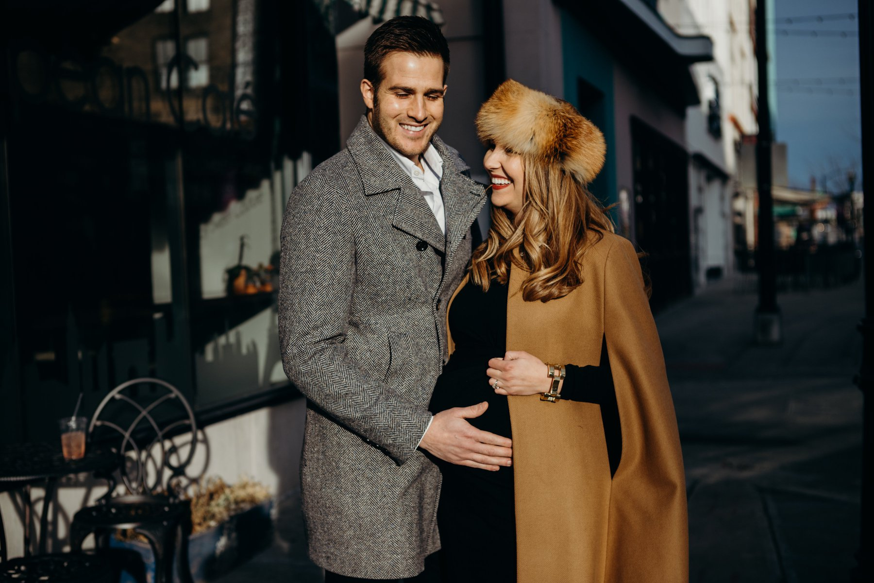 high fashion chic maternity session baby bump springfield missouri
