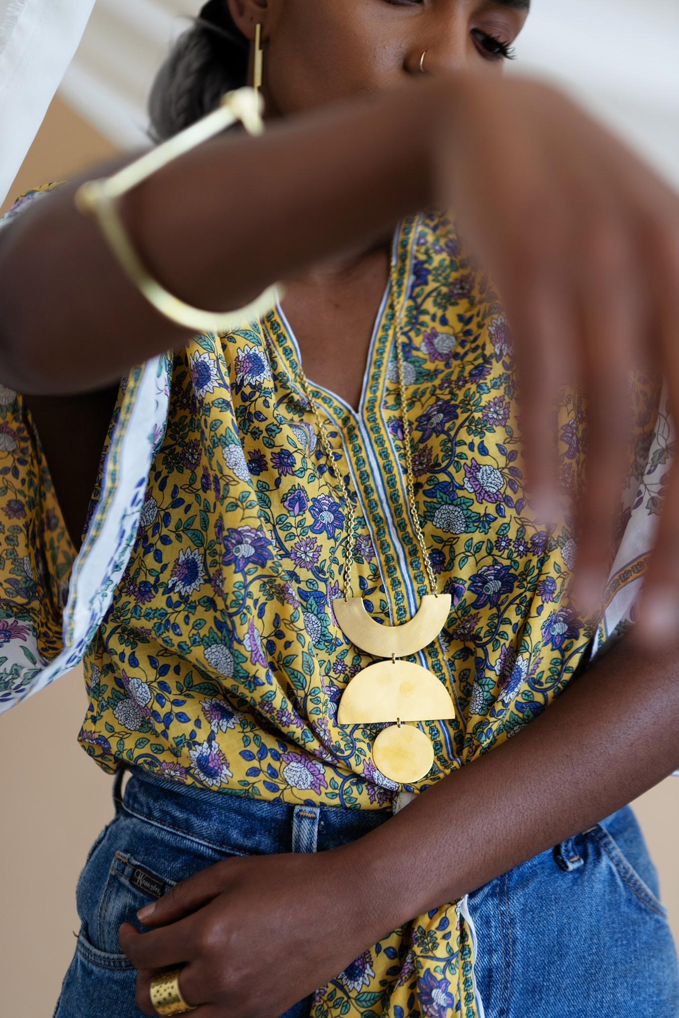 necklace sustainable artisan jewelry nepal portland maine fair-wage modern jewelry mulxiply