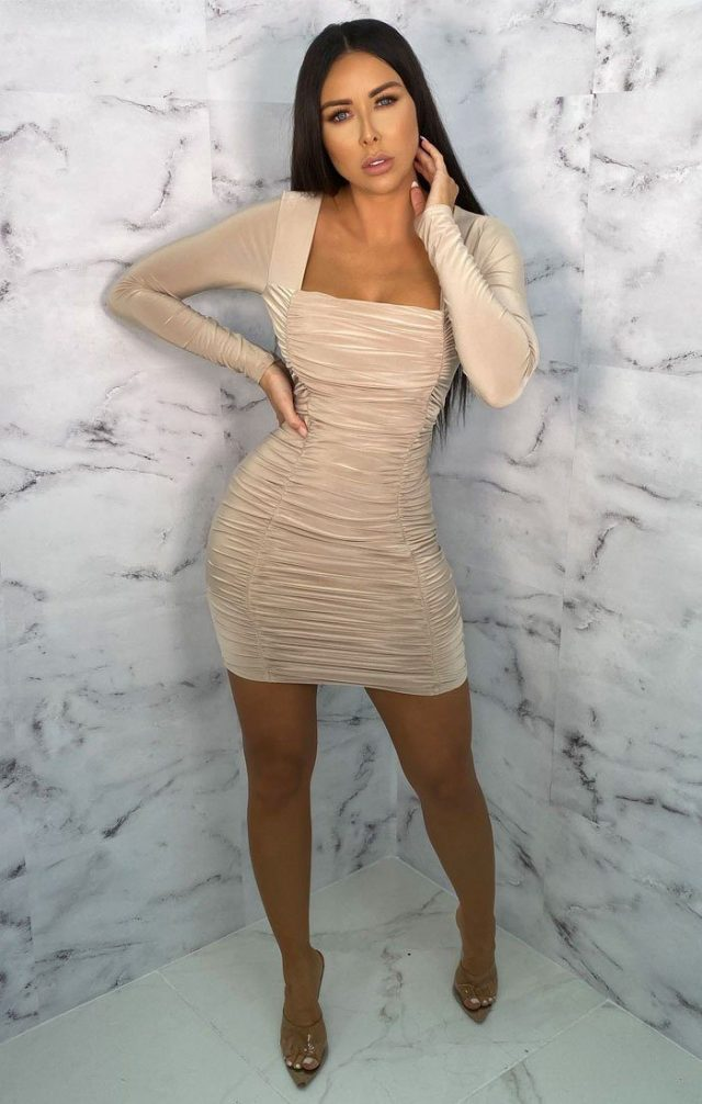 https://femmeluxefinery.co.uk/products/nude-square-neck-ruched-bodycon-mini-dress-gina