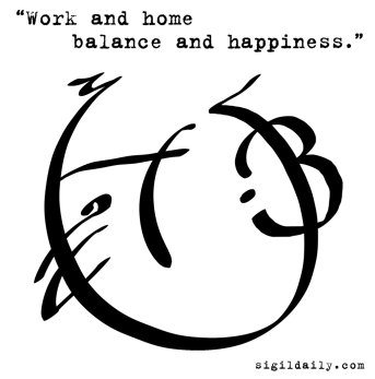 """Work and home balance and happiness."""