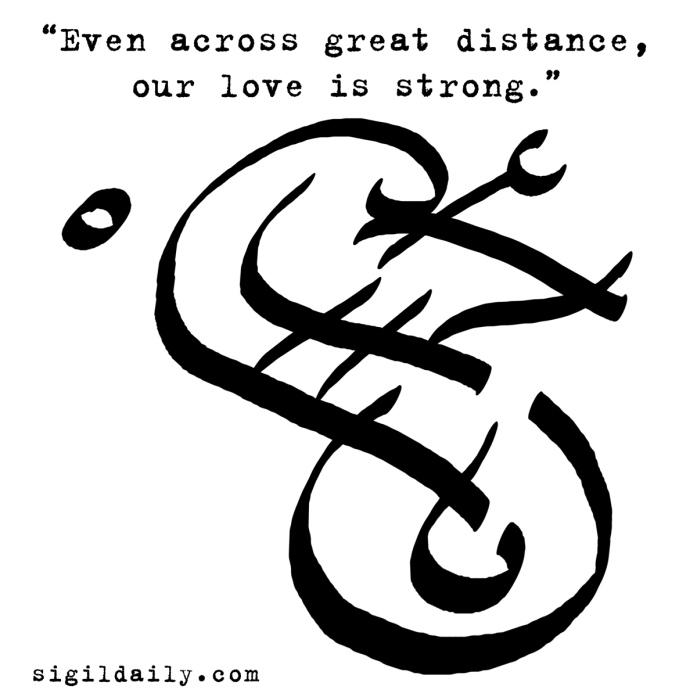 """Even across great distance, our love is strong."""