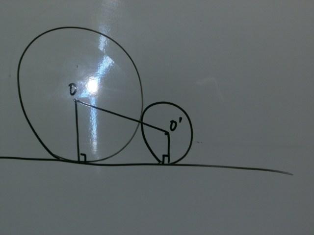 三平方の定理と円