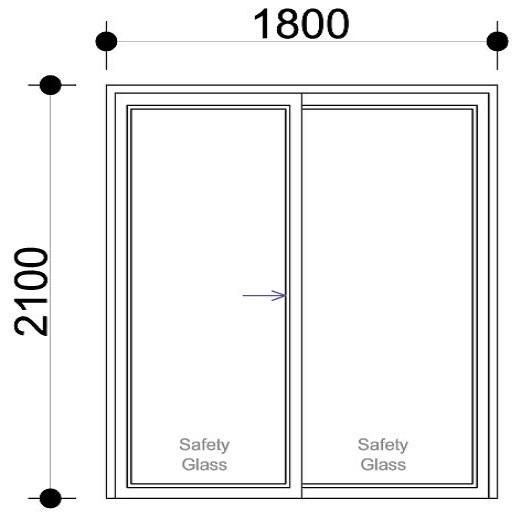 sd1821 ox aluminium sliding door