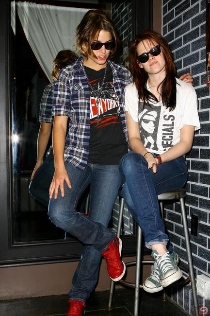 nikki and kristen shopping in LA at Affliction last year