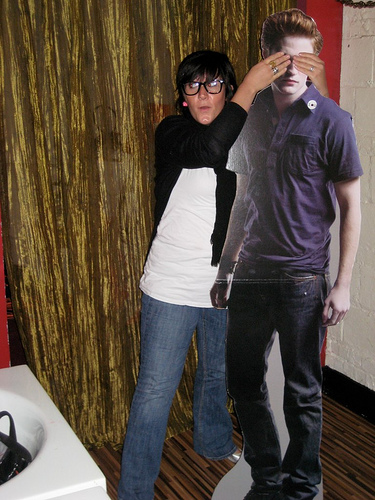 sarahterrible and Edward just goofin