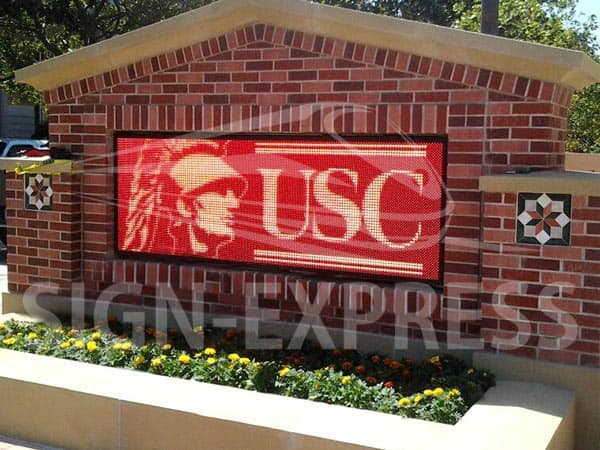 LED School Sign University of Southern California