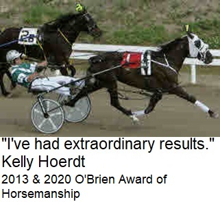 Standardbred Trainer Kelly Hoerdt, 2x winner of O'Brien Award of Horsemanship