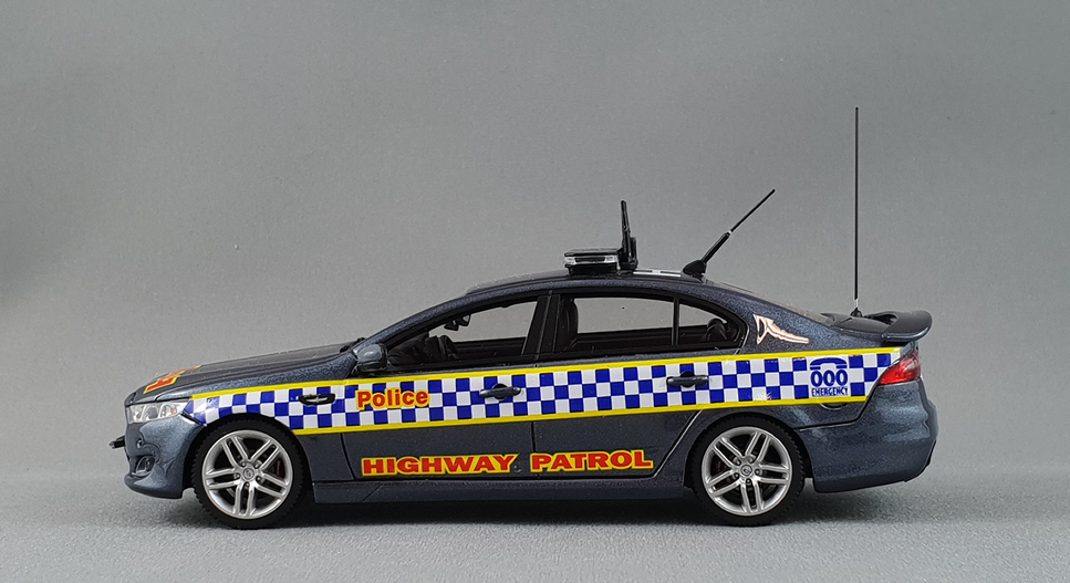 Victoria Police Highway Patrol Unit 2016 Ford FGX XR6 Turbo Sedan - Aero Blue