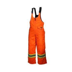 Pantalon combinaison du travailleur orange