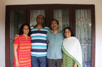 """Visiting Kalpana and Balaji at home, and revisiting """"3 fellows and a wife"""" 17 years later."""""""