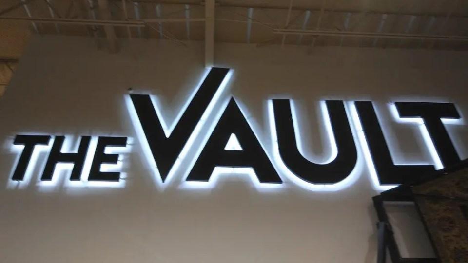 Back-Lit sign at the DUMP furniture
