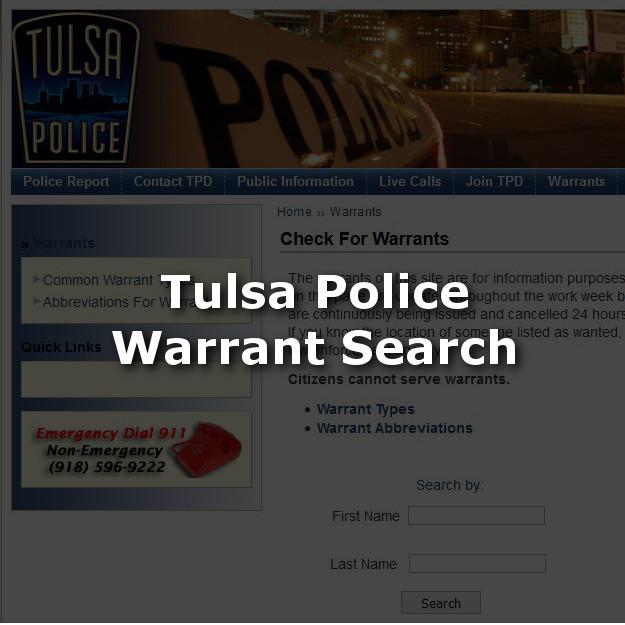 Search For Tulsa Warrants
