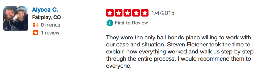 Yelp Bail Bond Reviews