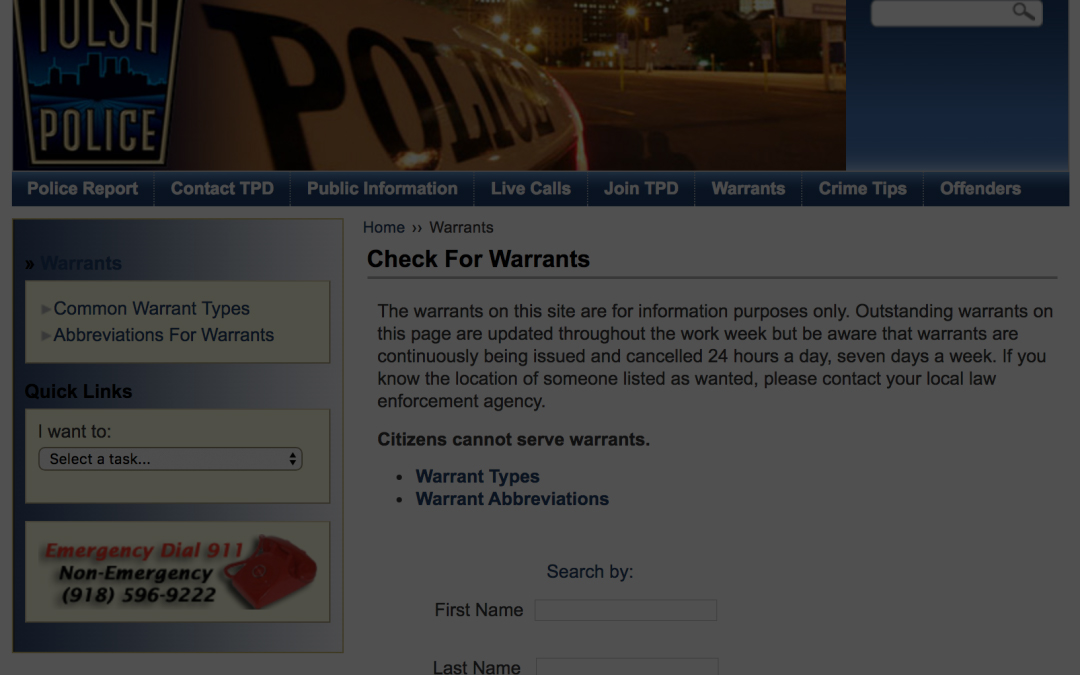 What is a Tulsa Warrant Surrender?