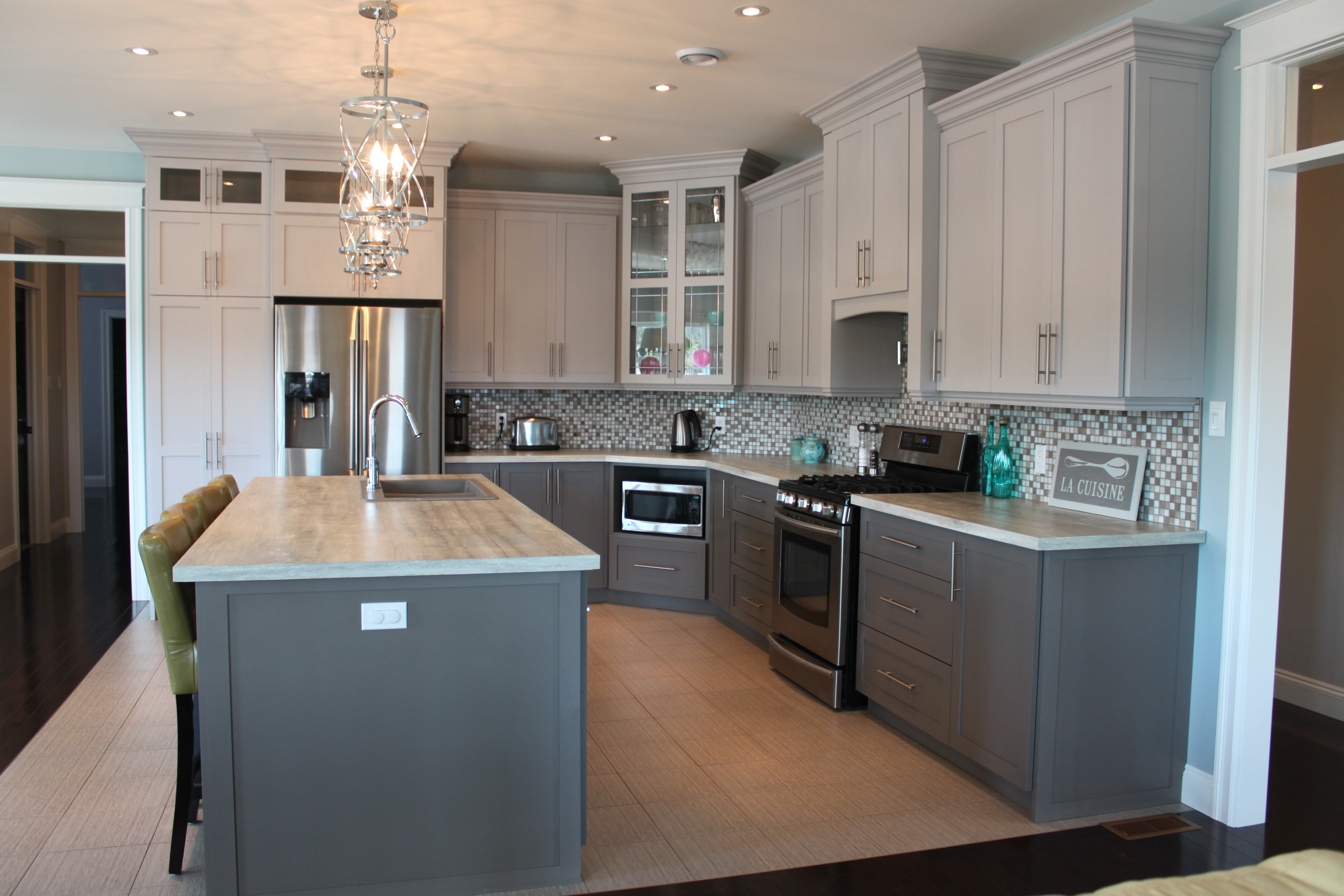 Painted Two Tone Kitchen Signature Kitchens And Baths