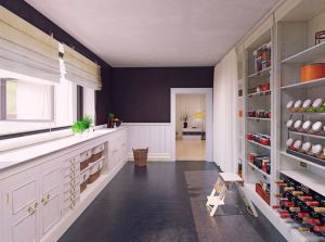 Modern pantry interior design. 3d rendering concept