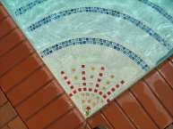 tile inlay pool steps