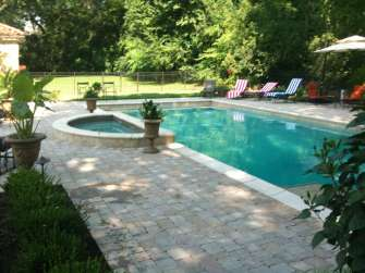 crescent tub with pool