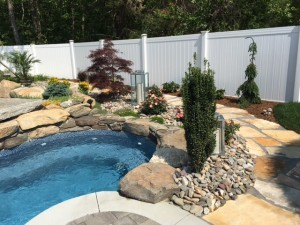 pool build with water feature - Pool Builder, Signature Pool and Spas in North Kingstown RI
