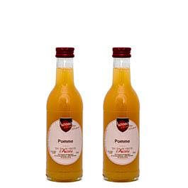 Photo de 2 jus de fruits artisanaux – Jus de pomme – Les jus de fruits d'Aurore – 2 x 25 cl