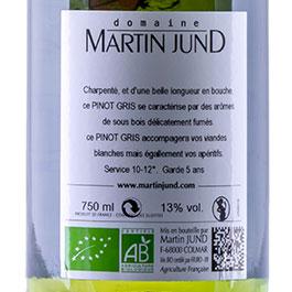 Photo de l'étiquette du vin Pinot Gris du Domaine JunD