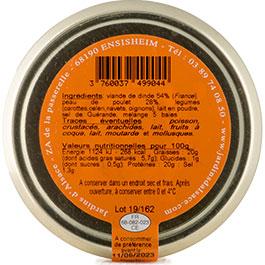Photo de l'étiquette de la COLMAR BOX APéRO Terrine Volaille+légumes BIO