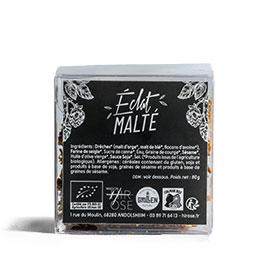 étiquette des Crackers Éclat Malté par Hirose