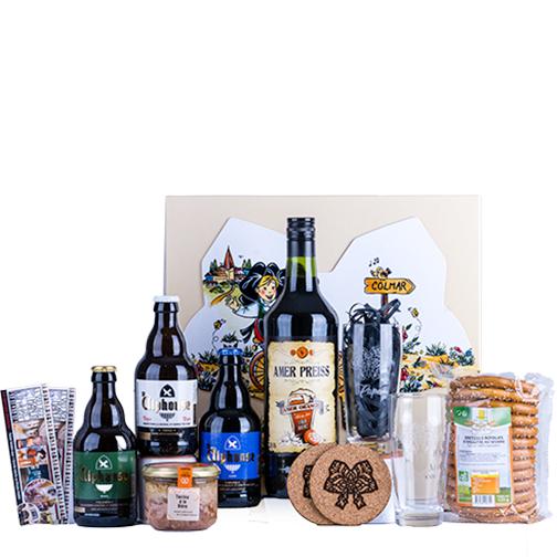 Photo de la BOX Coffret Bière et de ses articles, une création Signatures d'Alsace