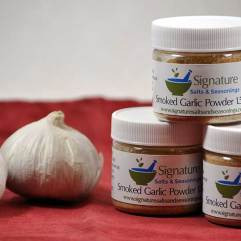 Jars of Smoked Garlic Powder