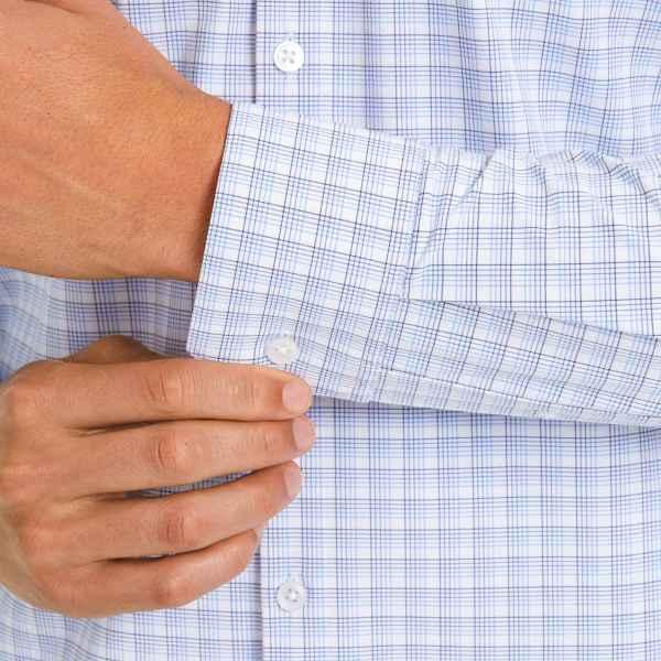 Men's Clothing Mizzen Main Long Sleeved Leeward Blue Multi Check Shirt