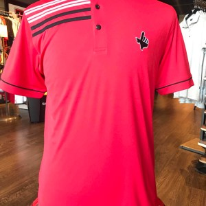 Red Shoulder Stripe Polo- Texas Hand