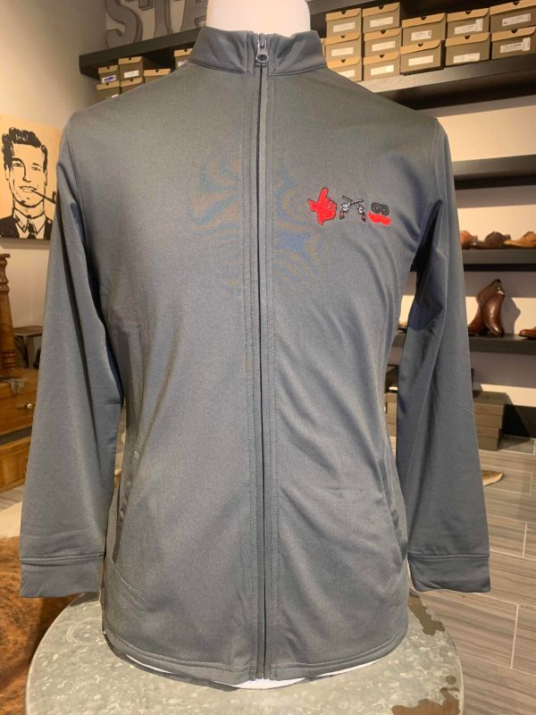 Women's Charcoal Performance Full Zip Jacket with 3 Logo