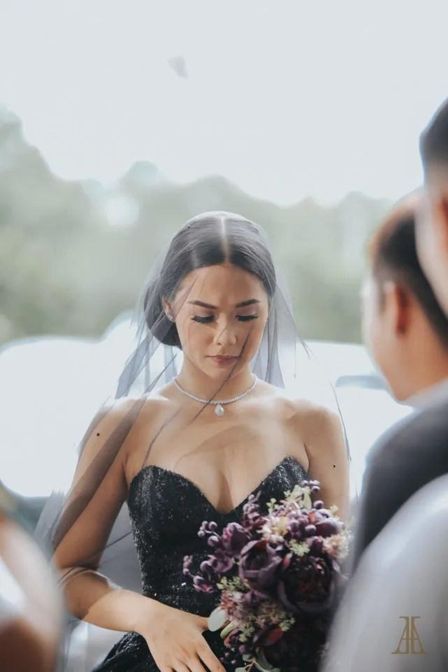 Black Wedding Dress Up : Bride maja salvador wore black wedding dress