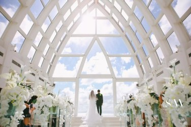 Janice & Everest's Heavenly Wedding in the Clouds in Okinawa Japan Okuma Felicia Church