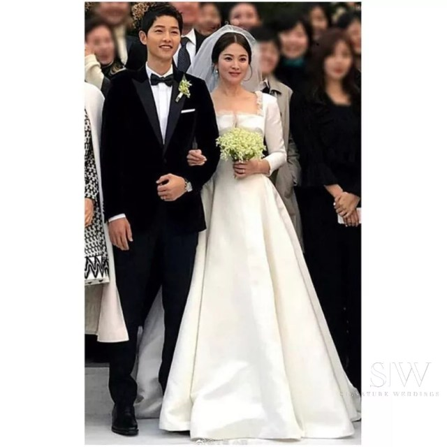 Korean Celebrity Wedding Photos: Dior Reveals The Making Of Song Hye Kyo's Wedding Dress