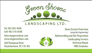 Green Shores Business card