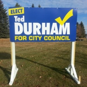 Edmonton East Election Signs