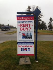 Edmonton West For Lease Signs